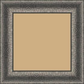 Cadre bois profil incurvé largeur 4.5cm plombs foncé finition aspect cuir - 70x70