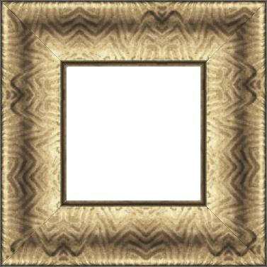 Cadre bois profil incurvé largeur 9.4cm bronze finition aspect cuir - 61x46