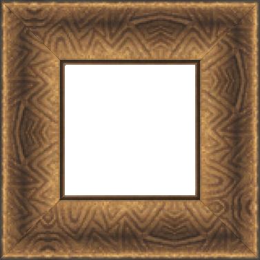 Cadre bois profil incurvé largeur 9.4cm cuivre foncé finition aspect cuir - 61x46
