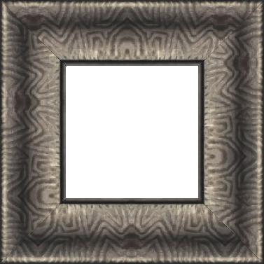 Cadre bois profil incurvé largeur 9.4cm plombs foncé finition aspect cuir - 61x46