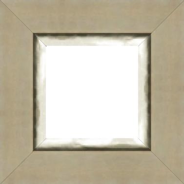 Cadre bois profil plat largeur 9.4cm couleur mastic mat effet de matiere filet argent chaud 2.6cm de large - 61x46