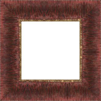 Cadre bois profil inversé largeur 7cm couleur bordeaux ancien décor plissé filet or boule - 61x46