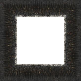 Cadre bois profil inversé largeur 7cm couleur noir ancien décor plissé filet vermeille boule - 61x46