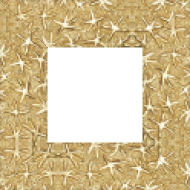 Cadre bois profil plat largeur 9.5cm or lumineux décor étoile - 61x46