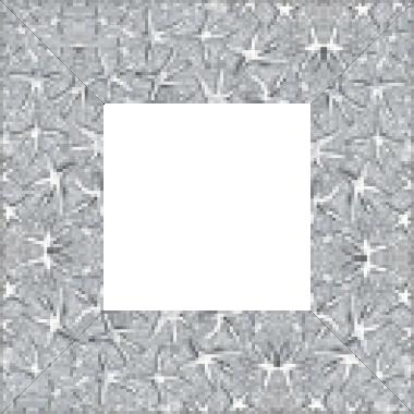 Cadre bois profil plat largeur 9.5cm argent lumineux décor étoile - 61x46