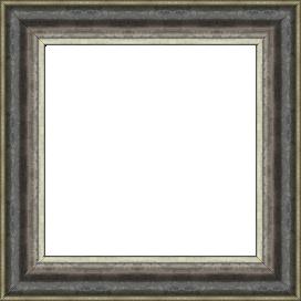 Cadre bois profil doucine largeur 4.1cm argent froid noirci - 61x46
