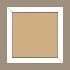 Cadre bois profil méplat largeur 2.3cm couleur blanc laqué - 34x40