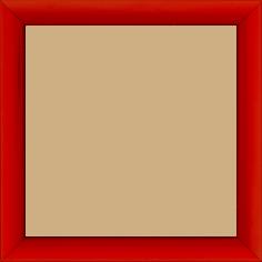 Cadre bois profil méplat largeur 2.3cm couleur rouge laqué - 60x80