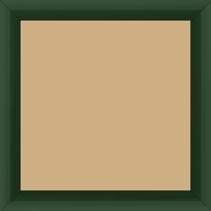 Cadre bois profil méplat largeur 2.3cm couleur vert anglais laqué - 40x40