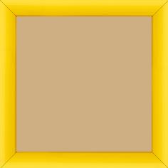 Cadre bois profil méplat largeur 2.3cm couleur jaune laqué - 15x20