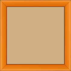 Cadre bois profil méplat largeur 2.3cm couleur orange laqué - 15x20
