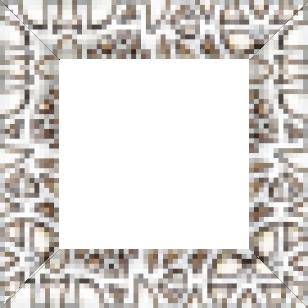 Cadre bois profil incurvé largeur 5.9cm argent chaud  décor relief bariolé - 61x46