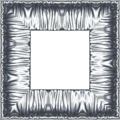 Cadre bois profil incurvé largeur 10.1cm argent froid effet plissé - 61x46