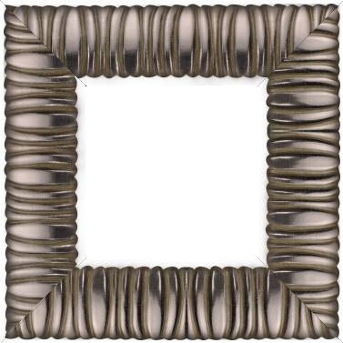Cadre bois profil méplat largeur 9.4cm plombs chaud décor cannelé - 61x46