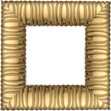 Cadre bois profil méplat largeur 9.4cm or décor cannelé - 61x46
