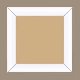 Cadre bois profil arrondi largeur 3.5cm couleur blanc mat - 20x20