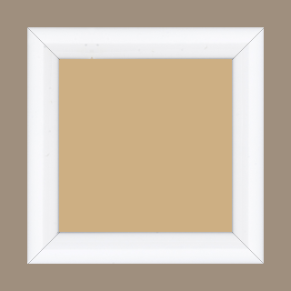 Cadre bois profil arrondi largeur 3.5cm couleur blanc laqué - 80x100