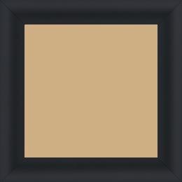 Cadre bois profil arrondi largeur 3.5cm couleur noir mat - 52x150