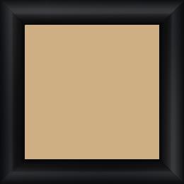 Cadre bois profil arrondi largeur 3.5cm couleur noir laqué - 52x150