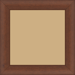 Cadre bois profil arrondi largeur 3.5cm couleur marron foncé  satiné - 84.1x118.9