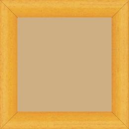 Cadre bois profil arrondi largeur 3.5cm couleur jaune tournesol satiné - 80x100