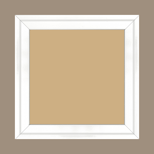 Cadre bois profil plat escalier largeur 3cm couleur blanc laqué - 59.4x84.1