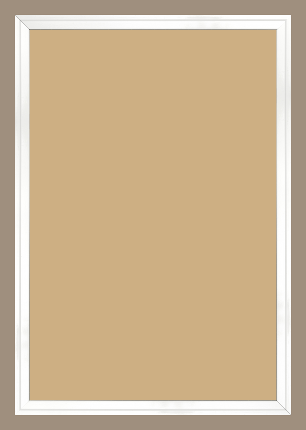 Cadre bois blanc — 50 x 75