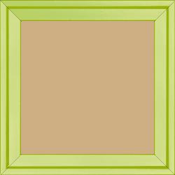 Cadre bois profil plat escalier largeur 3cm couleur citron vert laqué - 40x40