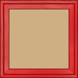Cadre bois profil plat escalier largeur 3cm couleur rouge ferrari laqué - 30x40