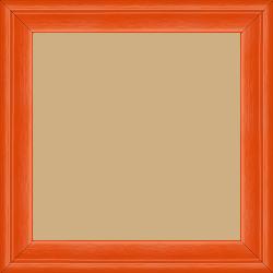 Cadre bois profil plat escalier largeur 3cm couleur orange laqué - 60x80