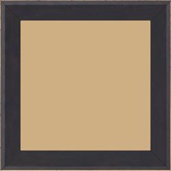 Cadre bois profil plat escalier largeur 3cm couleur chocolat satiné filet créme extérieur - 15x20
