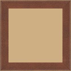 Cadre bois profil plat escalier largeur 3cm couleur marron miel satiné filet créme extérieur - 30x30
