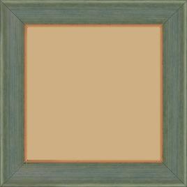 Cadre bois profil incurvé largeur 3.9cm couleur vert amande satiné filet or - 59.4x84.1