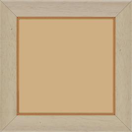 Cadre bois profil incurvé largeur 3.9cm couleur crème satiné filet or - 15x20