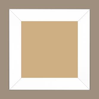 Cadre bois profil plat largeur 4.1cm couleur blanc laqué - 52x150