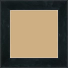 Cadre bois profil plat largeur 4.1cm couleur noir laqué - 52x150