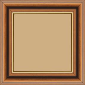 Cadre bois profil doucine largeur 4.8cm marron filet or - 84.1x118.9
