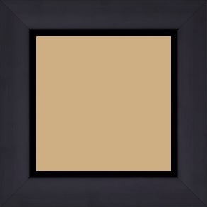 Cadre bois profil cocotte largeur 5.1cm couleur noir satiné - 52x150