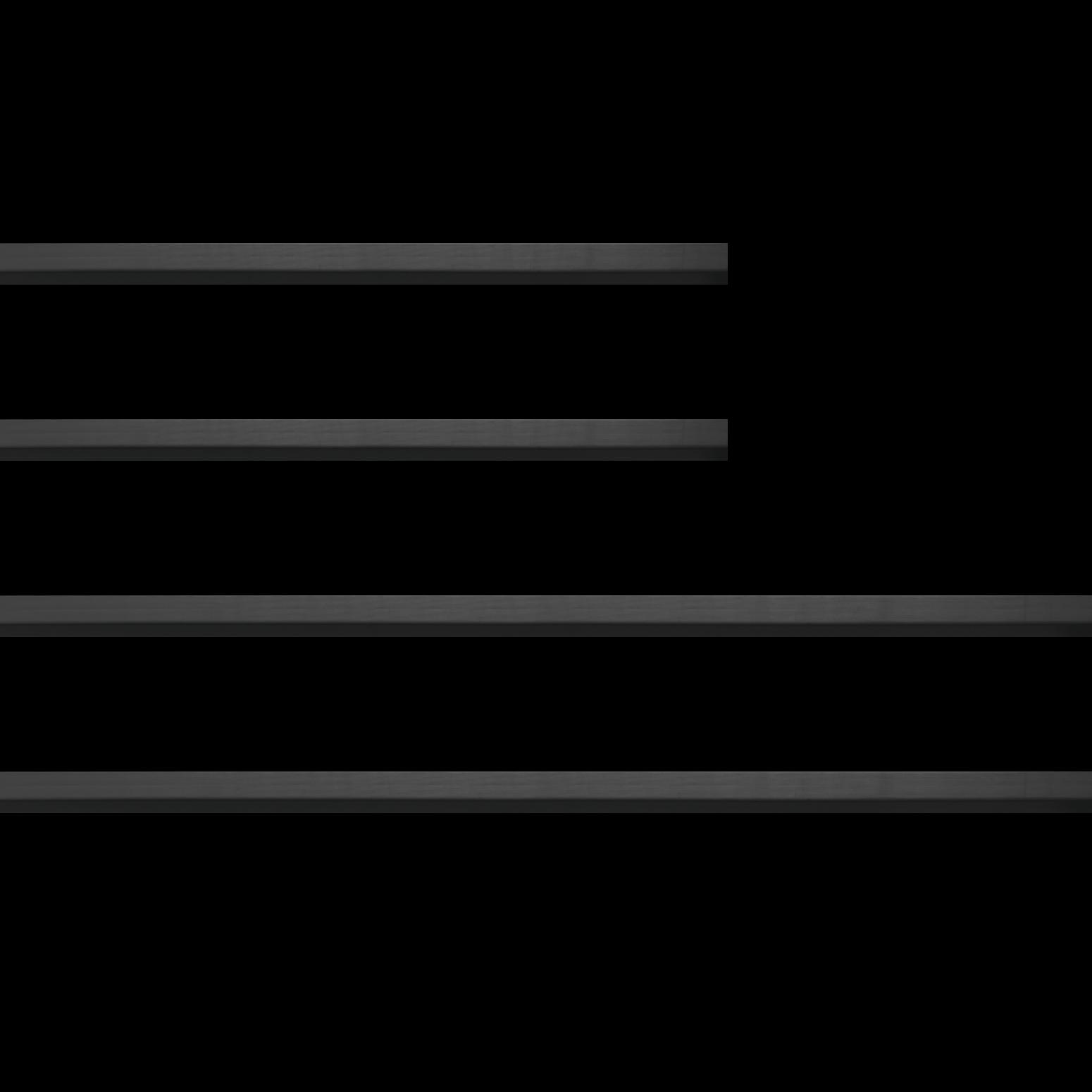 Baguette bois profil plat nez cassé largeur 2cm couleur noir satiné