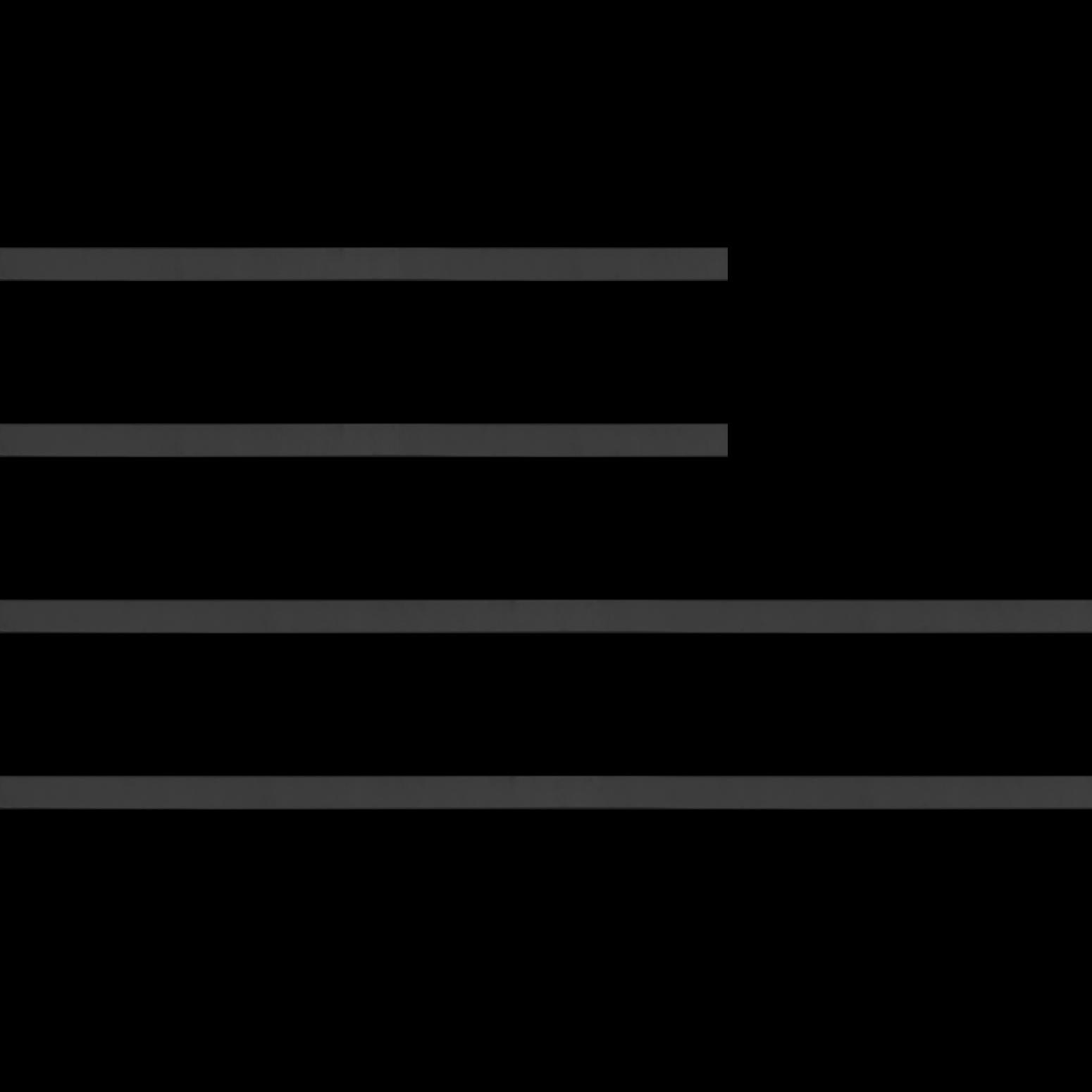 Baguette bois profil plat largeur 1.6cm couleur noir satiné