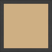 Cadre bois profil plat largeur 1.6cm couleur noir mat finition pore bouché - 60x60