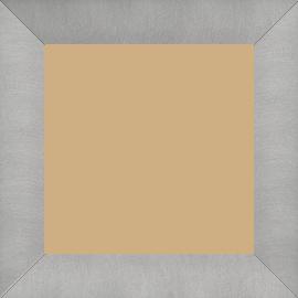 Cadre médium recouvert aluminium profil plat largeur 4cm couleur argent brossé - 50x75