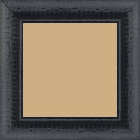 Cadre bois profil arrondi largeur 4.8cm couleur noir satiné décor bambou - 59.4x84.1