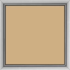 Cadre bois profil incurvé largeur 1.9cm de couleur plombs satiné - 70x70