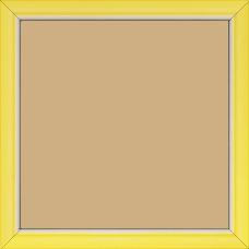 Cadre bois profil incurvé largeur 1.9cm de couleur jaune tonique filet intérieur blanchi - 15x20