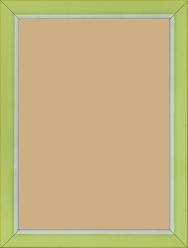 Cadre bois vert — 15 x 21