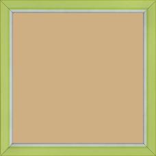 Cadre bois profil incurvé largeur 1.9cm de couleur vert tonique filet intérieur blanchi - 40x40
