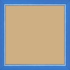 Cadre bois profil incurvé largeur 1.9cm de couleur bleu tonique filet intérieur blanchi - 15x20