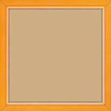 Cadre bois profil incurvé largeur 1.9cm de couleur orange tonique filet intérieur blanchi - 15x20
