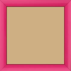 Cadre bois profil méplat largeur 2.3cm couleur rose tonique laqué - 60x90